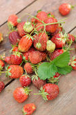 Pile of just gathered strawberries — Stock Photo