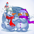 Royalty-Free Stock Векторное изображение: Snowmen