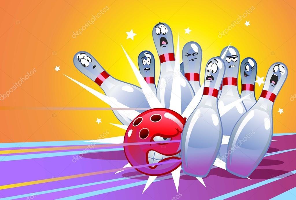 Lustige cartoon bowling stockvektor vitd 46935211 - Bowling dessin ...