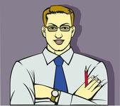 Człowiek z urzędu — Wektor stockowy