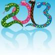 Stock Vector: Cheerful snakes