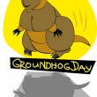 Groundhog day — Stock Vector #14833029