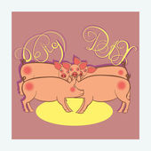 Pig day — Stock Vector