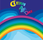 Clean air day — Stock Vector