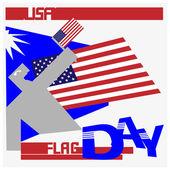 Usa flag day — Stock Vector