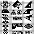 Постер, плакат: Set of eyes symbol