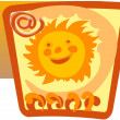 Stock Vector: Email sign and smiling sun
