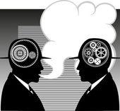 Gesprek tussen twee mannen — Stockvector
