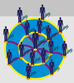 People in the circle — Stock Vector