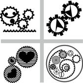 Gear sign set — Stock Vector