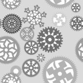 Gears seamless pattern — Stock Vector