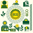 Eco labels — Stock Vector #34595043