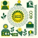 Eco labels — Stock Vector