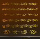 Vector set,gold — Stock Vector