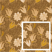Seamless pattern, tulips. — Stock Vector