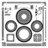Vector set,black — Stock Vector