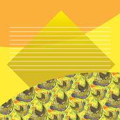 Multicolor card. — Stock Vector