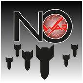 Nie wojny! — Wektor stockowy