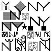 Monogram ,N,Y. — Stock Vector