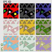 Seamless pattern, geometry — Stock Vector