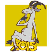 Year of Goat, 2015 — Stock Vector