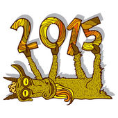 Year of Goat, 2015 — Vector de stock
