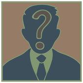 Pergunta de homem — Vetorial Stock