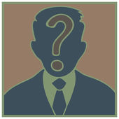 Pregunta hombre — Vector de stock