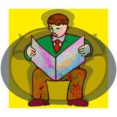 Man reading. — Stock Vector