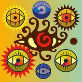 Set of symbolic eye. — Stock Vector