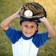 Young Boy with Basball Glove and Ball — Stock Photo #12171212