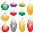 Collection of Christmas Decorations — Stock Photo