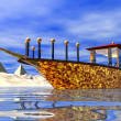 Cleopatra's barge — Stock Photo