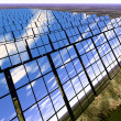 Stock Photo: Solar panel farm