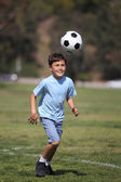 Young boy with soccer ball — Stock Photo