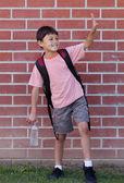 Menino de escola jovem — Foto Stock
