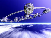Spacecraft in low atmosphere — Stock Photo
