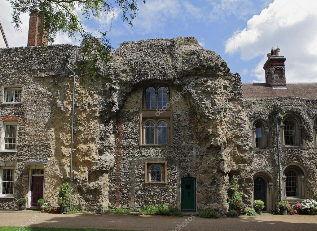 Old Abbey Ruins, Bury St, Edmunds — Stock Photo ...