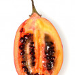 Tamarillo Cut In Half — Stock Photo