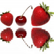 Stock Photo: Strawberries and cherries