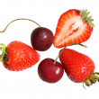 Strawberries and cherries — Stock Photo