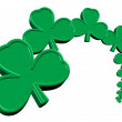 St. Patrick's Day Clover — Stock Photo