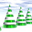 3D  Christmas Trees — Stock Photo