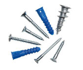 Various silver screws — Stock Photo