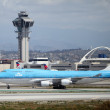 Foto de Stock  : Los Angeles Airport Aviation - KLM Boeing 747-400