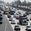 Freeway Traffic in Pasadena, California - Stock Photo