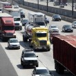 Freeway Traffic in Pasadena, California — Stock Photo