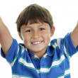 Young boy with arms up — Foto de Stock