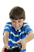 Boy playing video game — Stock Photo