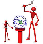 Splitting the atom — Stock Photo